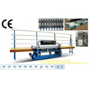 China Straight Line Small Glass Beveling Machine Processing Thickness 3 ~ 19mm on sale