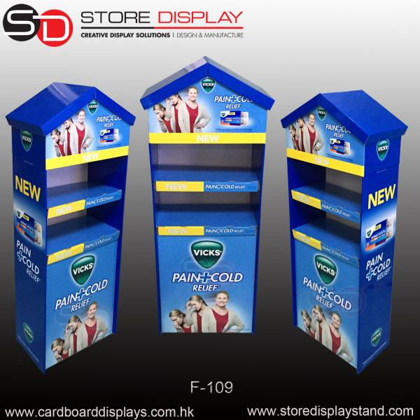 PDQ custom display stand shelf in house structure for sale