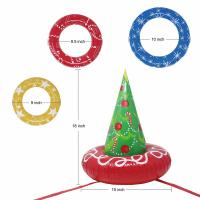 EN71 6P PVC Inflatable Christmas Tree Toss Game For Christmas Parties