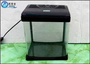 China Black 230mm Aquarium Fish Tank , Mini Glass Fresh Water Aquarium on sale
