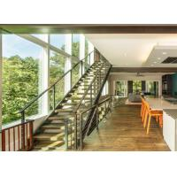 China Modern indoor commercial metal stairs anti-slip stairs used wood stairs on sale