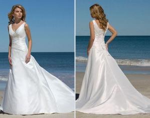 China 2011 hot sale new designer satin wedding dresses on sale