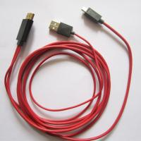 Android Cell Phone Tablet HD Audio Video Cable , HDMI HDTV Cable Adapter 2 Meter