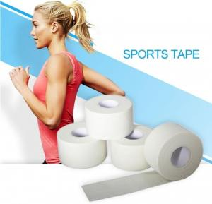China Zinc Oxide Breathable Cotton Adhesive Sports Tape, High-strength white cotton sport zigzag tape, white cotton sport pre on sale