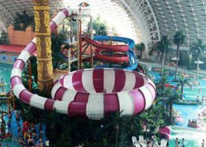 China Fiberglass Water Park Slide , Indoor Middle Behemoth Slide For Adult on sale