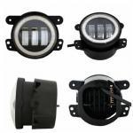 Black aluminum 4 Inch 30W Led Fog Lights DC12-15V  For TrucksHarley Motorcycles Stainless Steel Bracket
