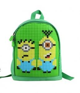 China 2015 New Products DIY silicone pixelbag / pencil case cover with pixel / silicone kids pixel backpack on sale