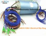 12 Channels 36 Circuits Electrical Slip Ring Fiber Optic rotary union 200 - 400 Million Revolutions FORJ