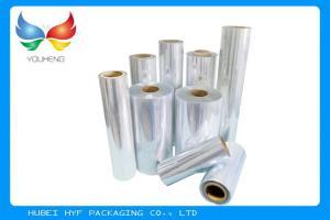 China 40 / 45mic Transparent Blown PVC / Cast PETG Shrink Film For Bottle Shrink Label on sale