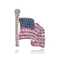 Decorative Fashionable National Flag Costume Brooch Trendy Fashion Jewelry
