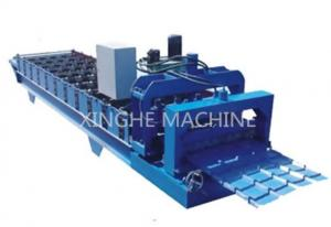 China Industrial Aluminum Step Tile Roll Forming Machine With Metal Slitter Machine  on sale