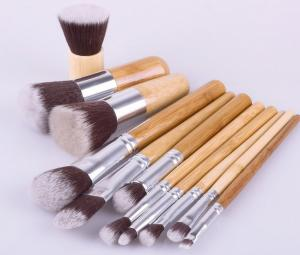 China Professional Make Up Brush Set Bamboo Handle 11Piece for Women on sale