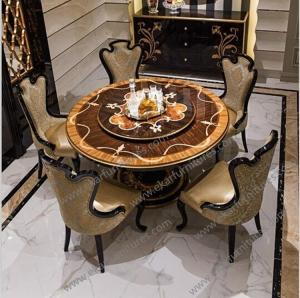 China Alibaba wholesale antique french round dining wooden table TN-023 on sale