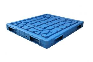 China 1500*1300*150mm Blow moulding Double face HDPE plastic pallets  with static loading 6000kg on sale