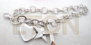 China 925 Sterling Silver Bracelet Heart Pendant on sale