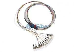 China FTTH Fiber Optic Pigtail  Ribbon 12 Core Multimode Fiber Optic Cable Waterproof on sale