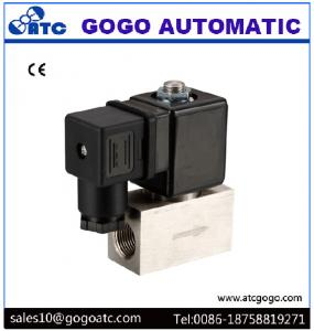 China 200 Bar High Pressure Solenoid Valve , Stainless Steel Solenoid Valves Air / Water on sale