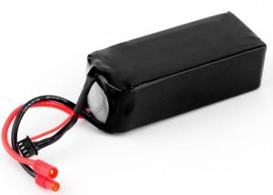 China Black 14.8 V Li Ion Polymer Battery Pack For Remote Control Car 4700mAh 30C on sale