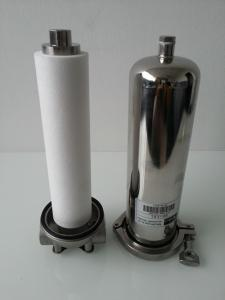 China Single Round 20 Carbon Filter Housing , Water Industrial Filter Bags For Chemical Industry on sale