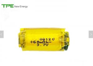 China Rechargeable 3.7 Li Ion Battery Pack For Themometer 60mAh 8mm*12mm on sale