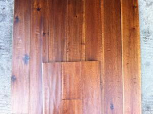 China big leaf hand scraped solid Acacia wood flooring on sale