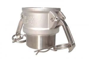 China 1/2 inch 316 stainless steel BSP, BSPT, DIN2999 threaded camlock quick coupling Type B on sale