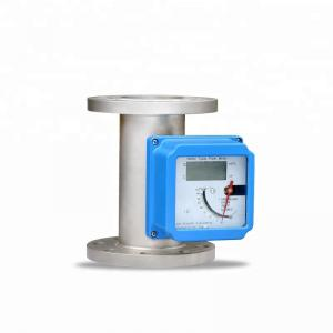 China DN25 High Accuracy Flanged Metal Tube Float Rotameter For Air Flow Measurement on sale