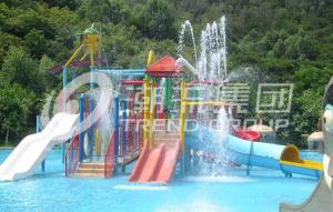 China Customized Indoor / Outdoor Aqua Park Equipment Kids Water House For Family Interaction on sale
