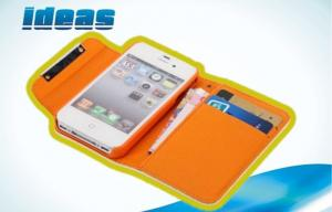 China iPhone 4S iPhone 5 Wallet Leather Cases Cover with Card Slots on sale