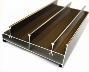 China Acid Resistant Extruded Aluminum Electronics Enclosure Track For Sliding Door on sale
