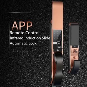 China APP Remote Controlled Fingerprint  Door Lock , Infrared Induction Slide Cover Lock on sale