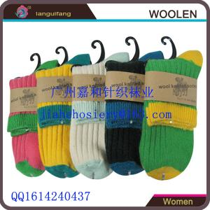 China Fashionable wholesale new design custom knitted women's Wool Socks on sale