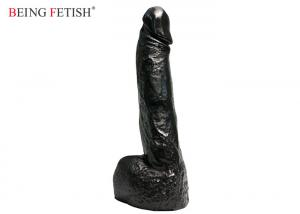China 8 Inch Long Super Horse Dong Sex Toy G Spot Stimulation Sex Toy In Black on sale