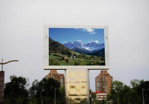 China High brightness full color outdoor led advertising screen Commercial 6500 nits on sale