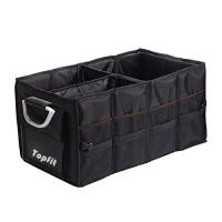 Topfit Folding Trunk Organizer Box, Durable Collapsible Cargo Storage For Car, SUV, Van