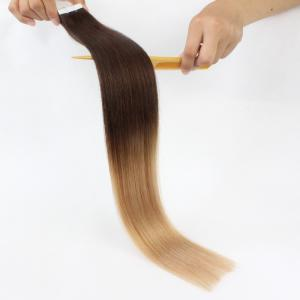 China wholesale customized 100% remy european human hair ombre seamless tape hair extensions on sale