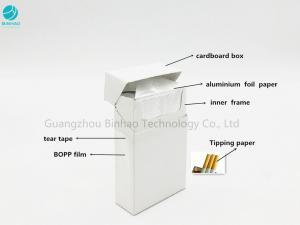 China Customized Cardboard Paper Cigarette Case Carton Of Smokes Square / Round Corner on sale