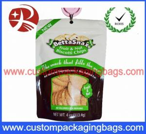 China Colored Waterproof Plastic Ziplock Bags , Zip Lock Stand Up Pouches For Cookies Packaging on sale