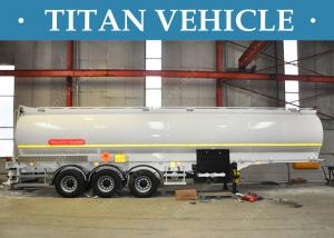 China Petrol Three Axle Oil Fuel Tanker Trailer 50000 Liters Steel Q345 on sale