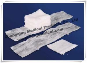 China 100% Cotton Filled Exodontia Woven Gauze Sponges For Surgery / Tooth Extraction on sale