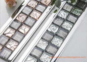 China High End Luxury Aluminium Mosaic Tile Trim Profile Setting Glass on sale