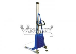 China Blue Mini Heavy Duty Electric Fork Lift Stacker High Efficiency on sale