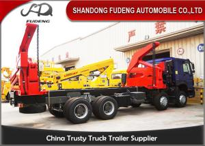 China 20 Foot Side Loader Trailer Double Axle Heavy Duty Leaf Spring Suspension on sale