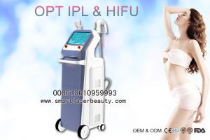 China OPT SHR IPL Hair Removal Machine / 2 In 1 IPL Beauty Machine With Ulthera HIFU on sale