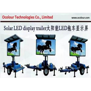 China Industry Leading Solar Powered Mobile LED Billboard , LED Traffic Road Sign VMS Trailer on sale