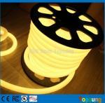 25M spool 12 Volt 360 degree round warm white led flex neon strip for room