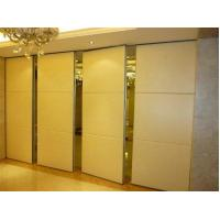 China Aluminum Frame Operable Wooden Interior Folding Partition Walls For Reception Hall on sale