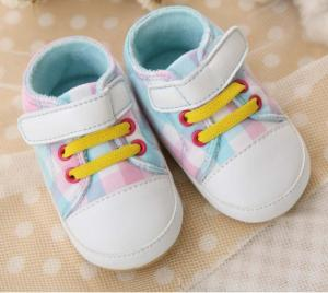China grid baby girl soft sole walking shoes on sale