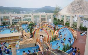 China Water Amusement Park Lazy River Pools With Wave Making Machine on sale