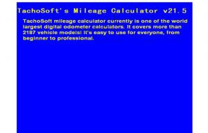 tachosoft mileage calculator v21 5 automotive diagnostic software